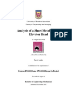 Analysis of a Sheet Metal Bucket Elevator Head