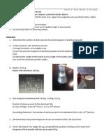 lab - mole quantities lab