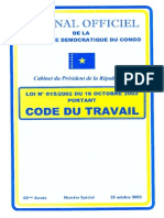 RDC - Code Du Travail 2002
