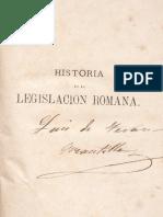 José María Antequerra - Historia de la Legislación Romana, Tercera Edición, Madrid, 1874.