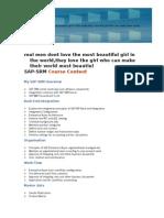 SAP - SRM Course Content.doc