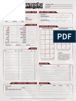 Shadowrun 5th Edition - Character Sheet
