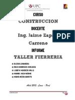 Informe Taller Fierreria