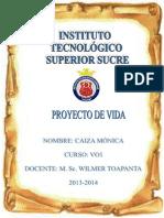 PROYECTO DE VIDA. MÓNICA CAIZA