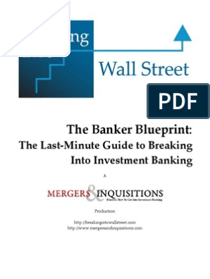 Banker Blueprint   Discounted Cash Flow   Mergers And
