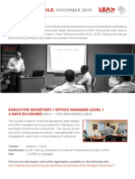 LEAD Training Libya - COURSE SCHEDULE _ NOVEMBER 2013.pdf