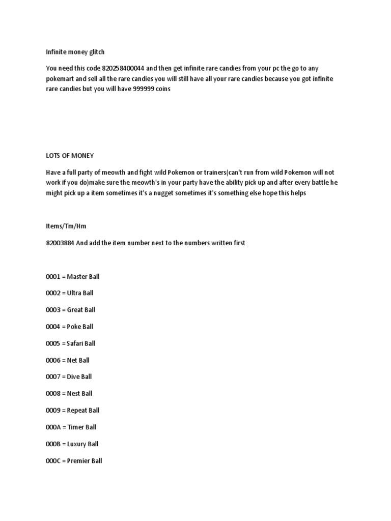 fire red cheats pdf