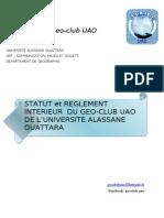 Statut Geo-club UAO