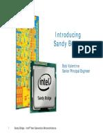 Intel sandy ntel sandy bridge architecture