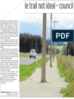 Poles on cycle trail not ideal - council (Southland Times; 2013.10.19)