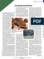 DNA From Fossil Feces Breaks Clovis Barrier