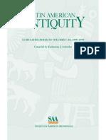 Latin American Antiquity - Περιεχόμενα από τον Τόμο 1.1 (1990) έως τον Τόμο 10.4 (1999).pdf