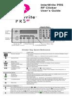 PRS RF Clicker Users Guide C