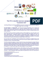 FDA Amalgam - Press Release - 1 August 2009