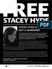 Free Stacey Hyde Public Meeting leaflet