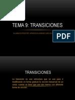 Tema Transiciones Expositor Carlos Aparicio Alvarado