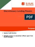 Discretionary Lending Power updated Sep 2012 .ppt