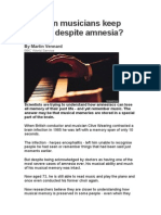 How can musicians keep playing despite amnesia.docx
