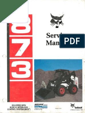 Bobcat 873 Repair Manual | Motor Oil | Elevator