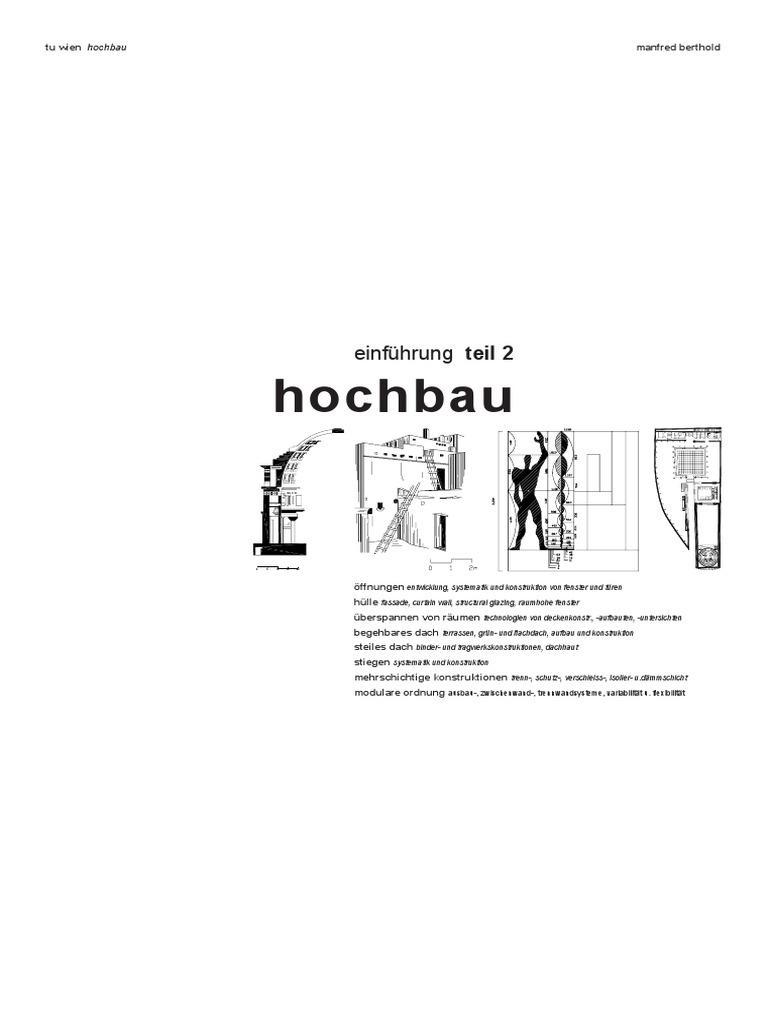 Hochbau for Studienplan architektur