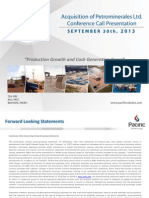 Acquisition of Petrominerales by Pacific Rubiales