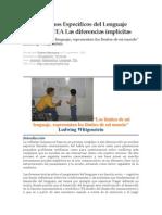 Los Trastornos Específicos del Lenguaje e las TEA