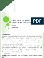 MÉTHODES DE FORMULATION DES BÉTONS
