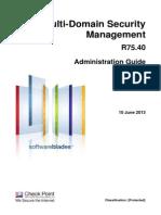 CP R75.40 Multi-DomainSecurityManagement AdminGuide