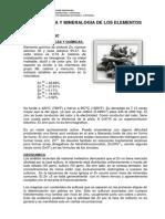 Geoquimica y Mineralogia de Los Elementoooooss
