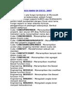 Fungsi Baru Di Excel 2007
