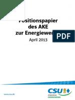 Positionspapier des CSU AKE Zur Energiewende