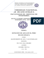 DOTACION DE AGUA HVCA - PERU (R.N.E)