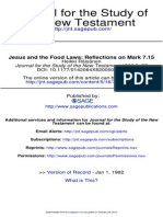 1982 - Heikki Räisänen - Jesus and the Food Laws. Reflections on Mark 7.15