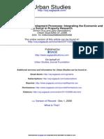Understanding Urban Development Processes