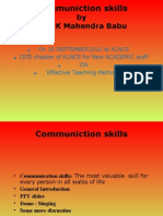 Communiction skills