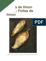 Hojas de Limon Fritas