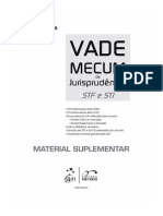 Suplemento-Vademecum de Jurisprudência STJ-STF (Tania)