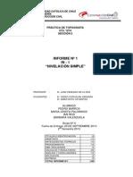 Informe 1 Topografía- Nivelación Simple G6