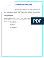 Telecom Management System.doc