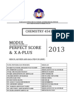 Chemistry Perfect Score x a Plus Module 2013