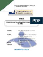 Regiones Naturales y Ecorregiones en El Peru