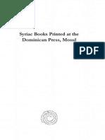 Syriac Books Printed at the Dominican Press, Mosul.pdf