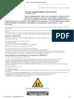 INRS - Cadre réglementaire des atmosphères explosives