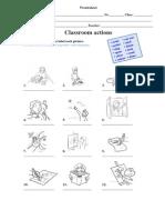 Worksheet ClassroomActions