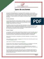 Las Acciones y Tipos de Acciones en PERU