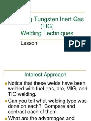 Amta5 8 Applying Tungsten Inert Gas Tig Welding Techniques Ppt Welding Electric Current
