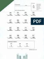subtraction worksheet0001