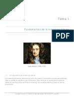 Tema I . Fundamentos de Mecanica Clasica