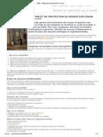 INRS - Mesures de prévention et de protection du risque explosion