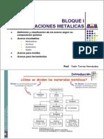 Bloque I - Aleaciones Metálicas. Clase 1